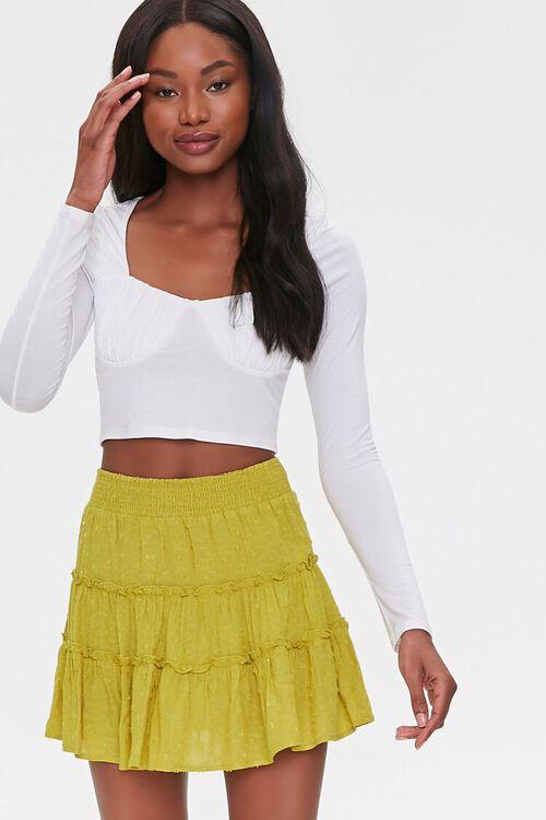 Tiered Clip Dot Mini Skirt, image 1