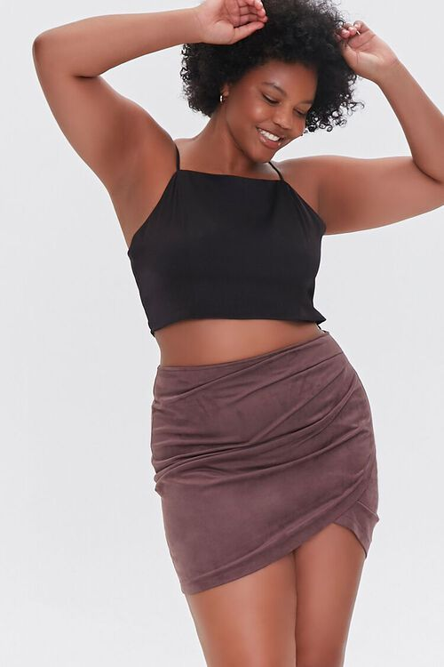 CHOCOLATE Plus Size Tulip Mini Skirt, image 1