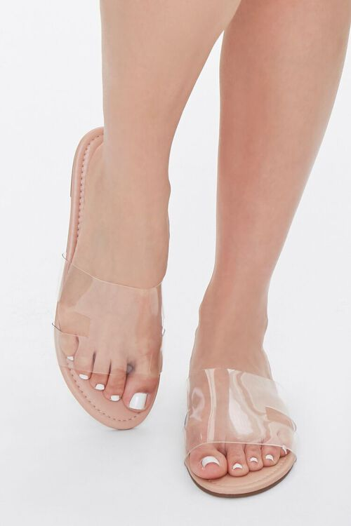 Faux Leather Clear-Strap Sandals, image 4