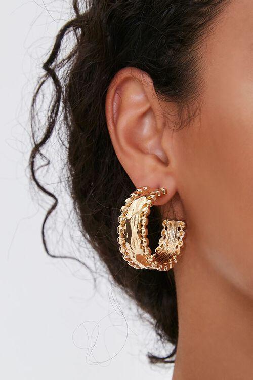 Wide Hoop Earrings, image 1