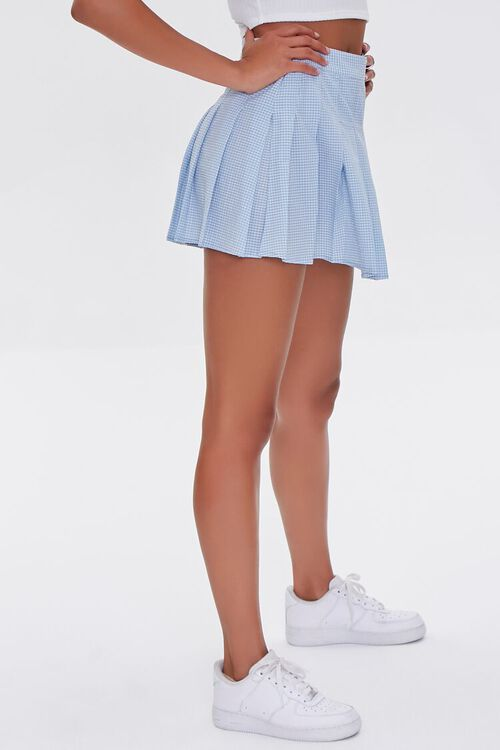 Plaid Pleated Mini Skirt, image 3