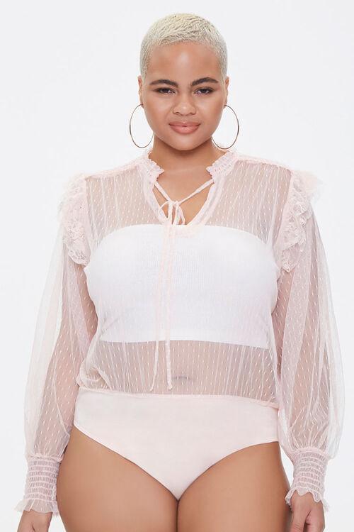 Plus Size Sheer Mesh Bodysuit, image 5