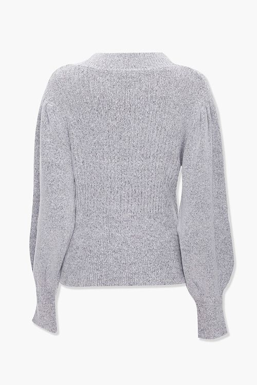 Ribbed Surplice Cutout Sweater, image 2