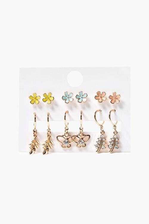 Charm Hoop & Stud Earring Set, image 1