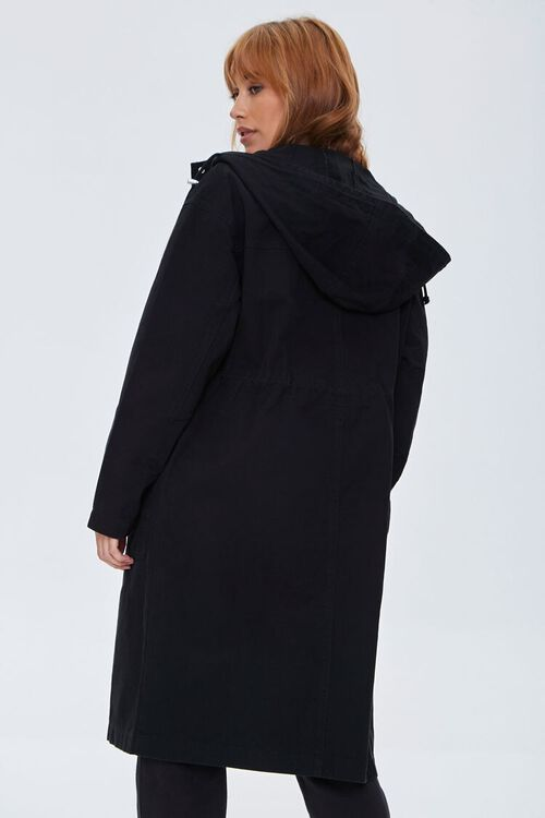 Drawstring Hooded Longline Jacket, image 3