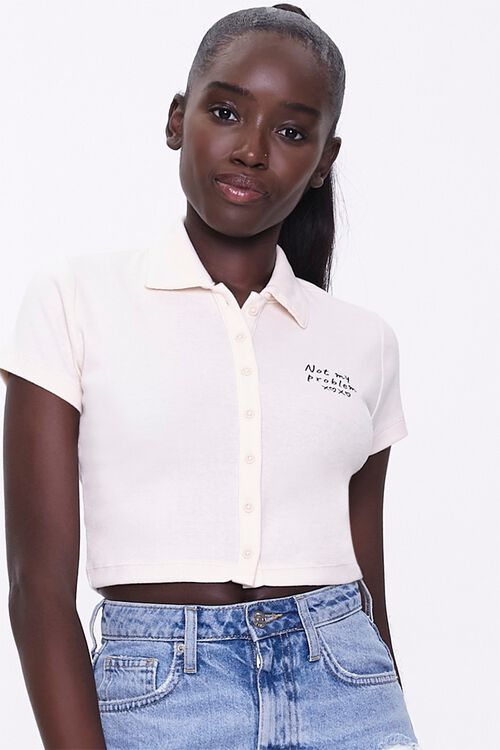 Not My Problem Polo Shirt, image 1