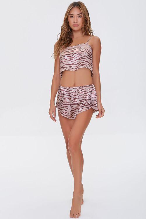 Satin Tiger-Striped Pajama Cami, image 4