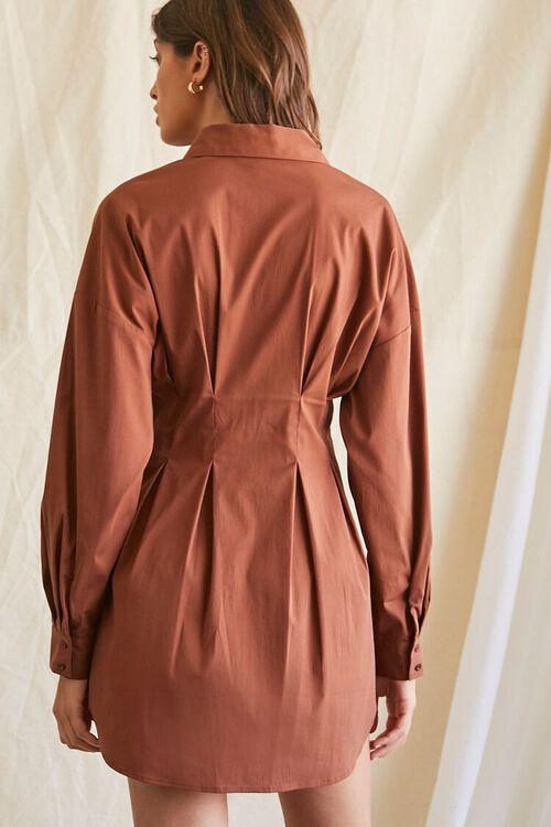 Dropped-Sleeve Shirt Dress, image 3