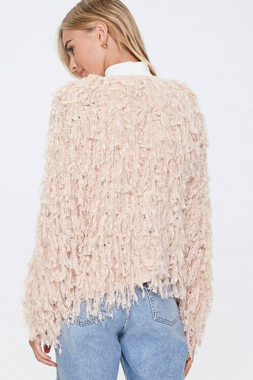 Shaggy Open-Front Cardigan, image 3