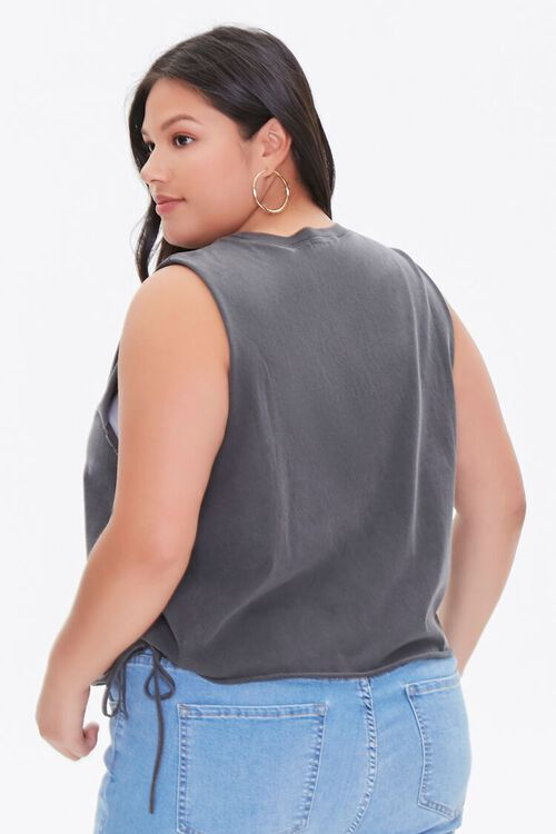 Plus Size Sun & Moon Graphic Muscle Tee, image 3