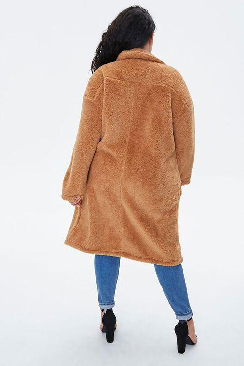 Plus Size Faux Fur Teddy Coat, image 3