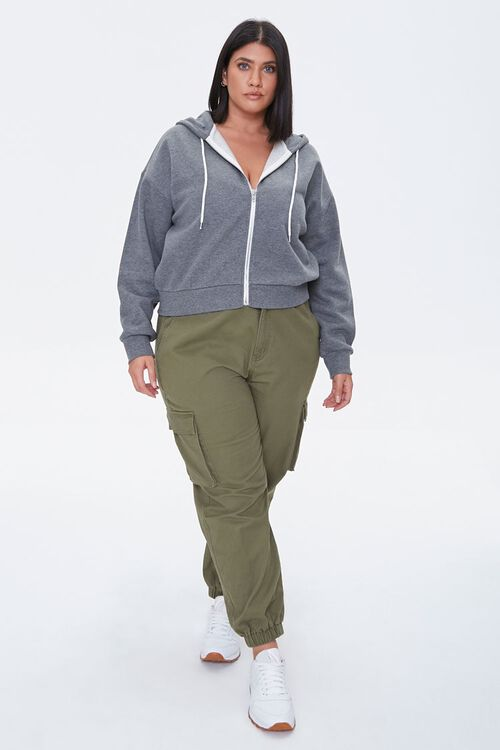 Plus Size Fleece Zip-Up Hoodie, image 4