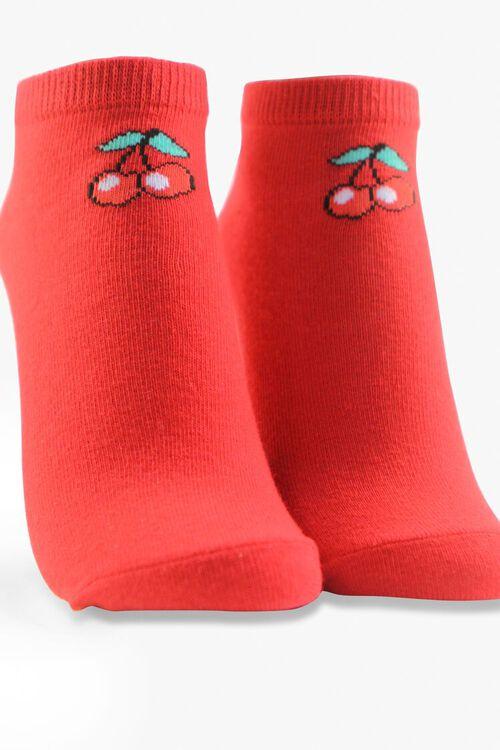 Cherry Print Ankle Sock Set, image 2
