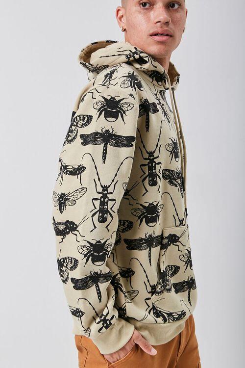 Insect Print Fleece Hoodie, image 2
