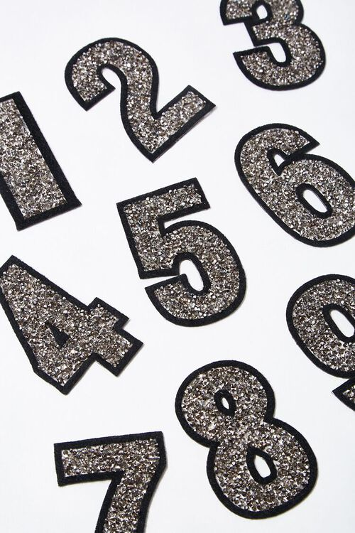 Iron-On Glitter Number Patch, image 1