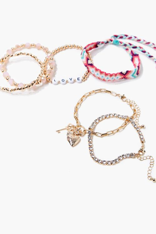 GOLD/MULTI Variety Bracelet Set, image 1