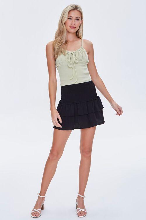 BLACK Tiered Flounce Mini Skirt, image 5