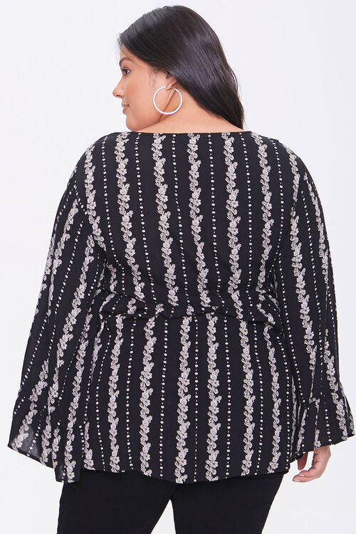 Plus Size Floral Bell-Sleeve Top, image 3