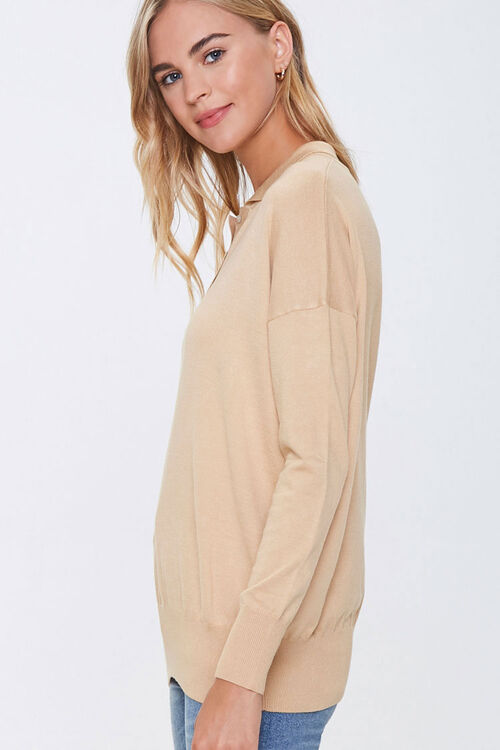 Ribbed Collared Top, image 2