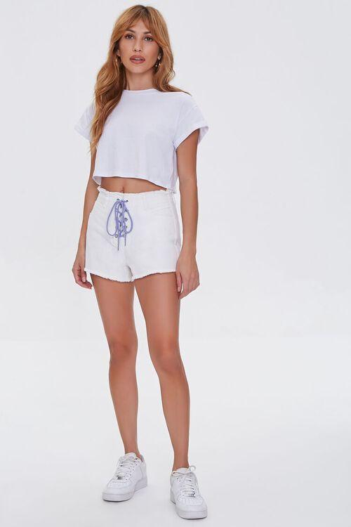 Lace-Up Denim Shorts, image 5