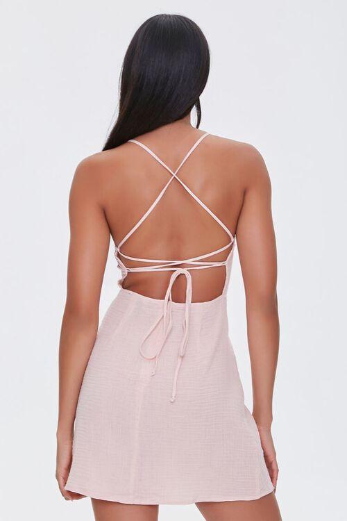 BLUSH Crisscross-Back Mini Dress, image 3