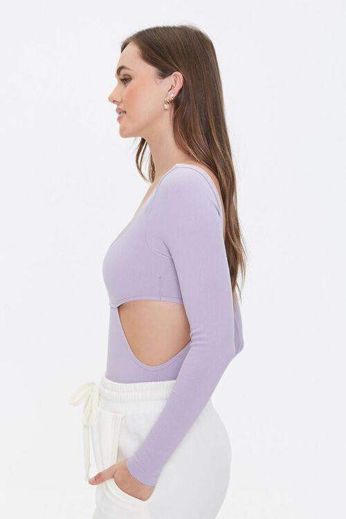 Seamless Cutout Long-Sleeve Bodysuit, image 2