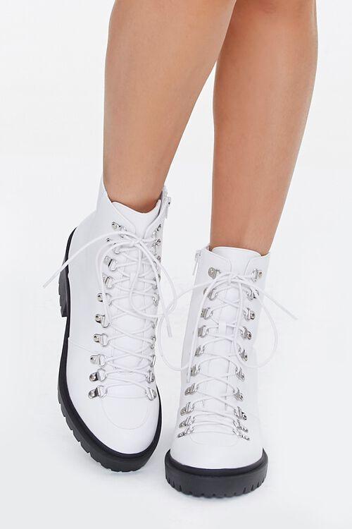 Faux Leather Combat Boots, image 4