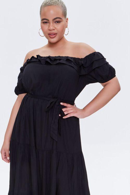 Plus Size Off-the-Shoulder Maxi Dress, image 2