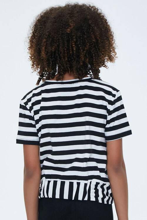 Girls Striped Knotted Tee (Kids), image 3