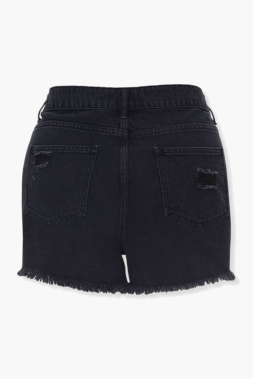 Plus Size Distressed Denim Shorts, image 3