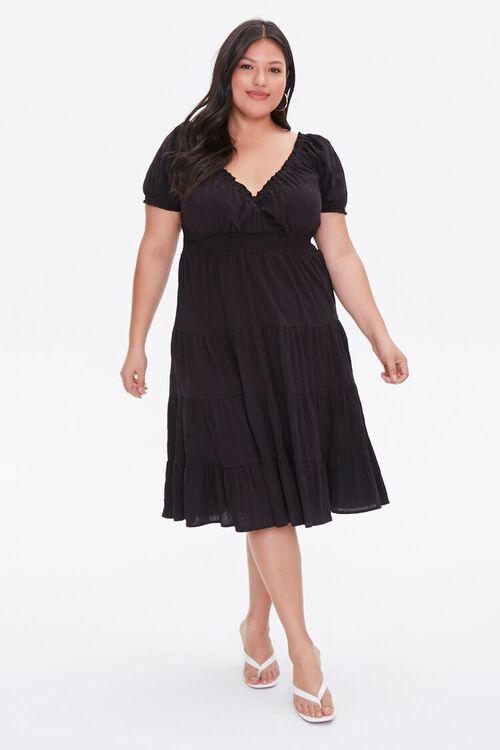 Plus Size Tiered Ruffle-Trim Dress, image 4