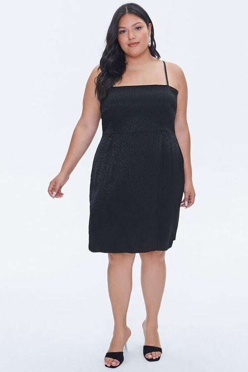 Plus Size Jacquard Cami Dress, image 4