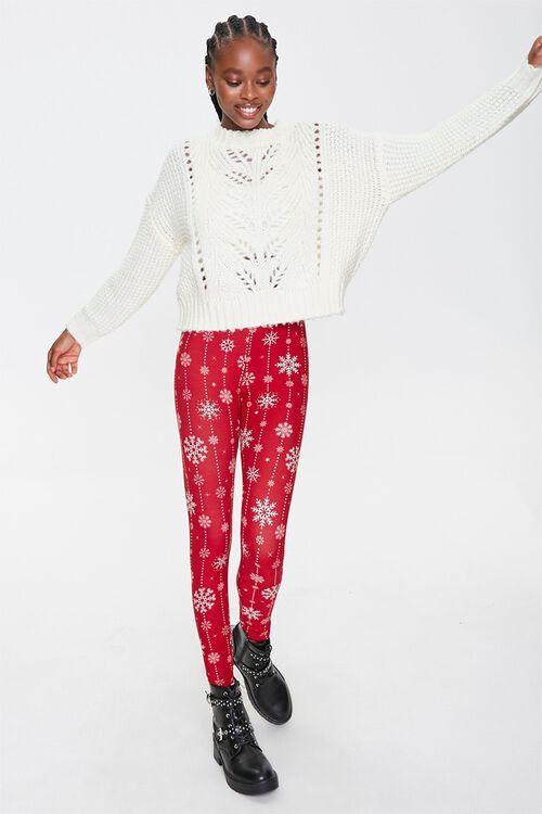 Snowflake Print Leggings, image 1