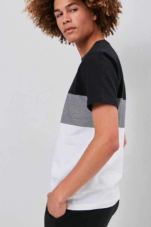 Colorblock Shadow-Striped Tee, image 2
