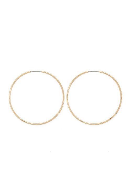 Metal Hoop Earrings, image 1