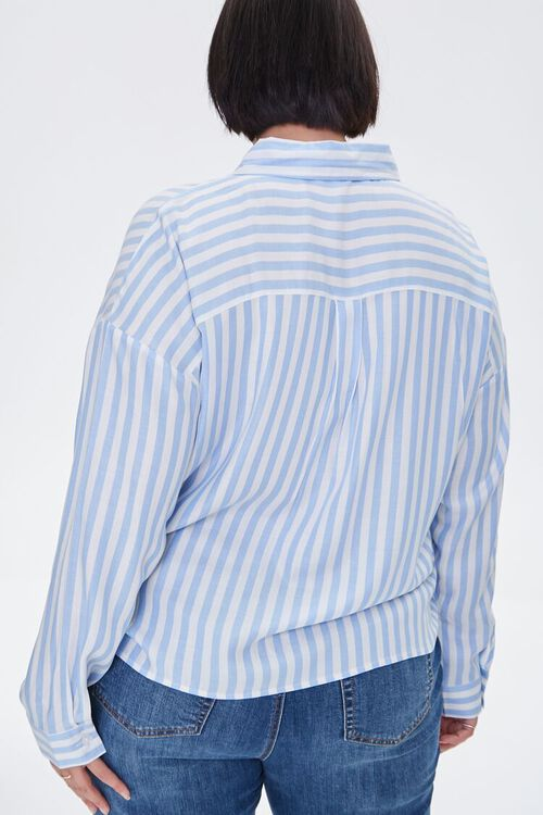 Plus Size Striped Shirt, image 3
