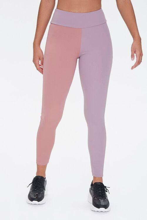 ROSE/LAVENDER Active Colorblock Leggings, image 2
