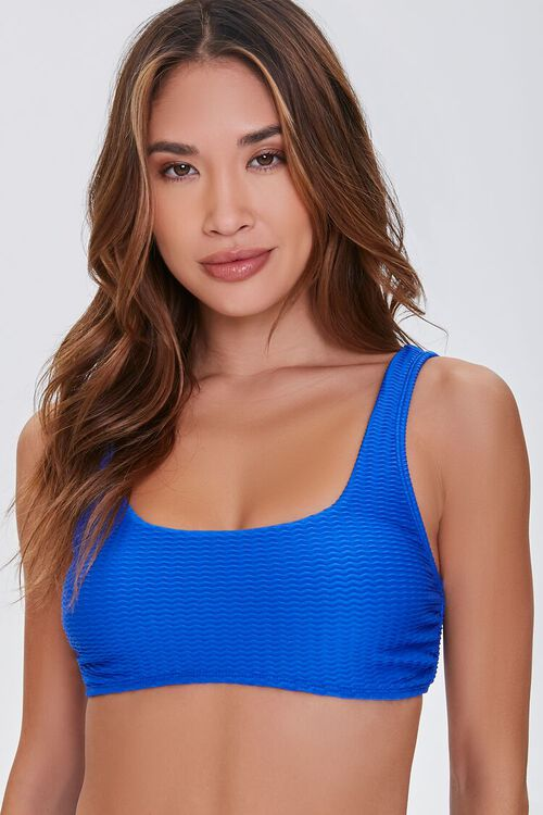 Textured Bikini Top, image 1