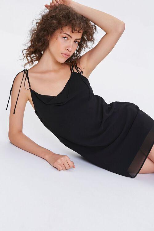 Chiffon Cowl Mini Dress, image 1