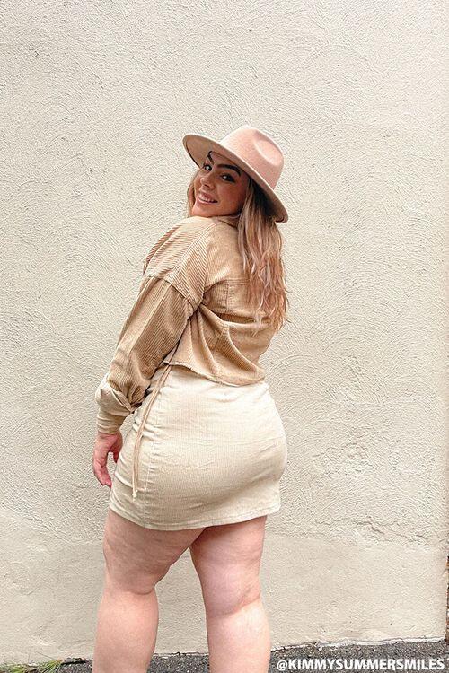 CREAM Plus Size Corduroy Mini Skirt, image 1