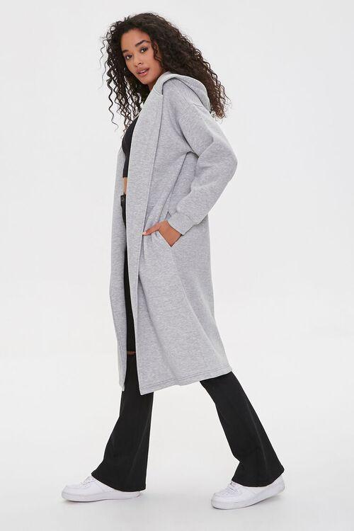 Hooded Heathered Duster Jacket, image 2