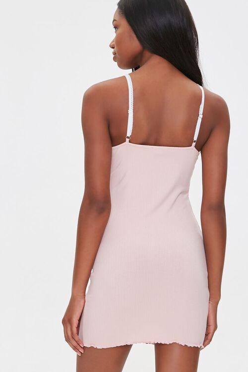 Ribbed Lettuce-Edge Mini Dress, image 3