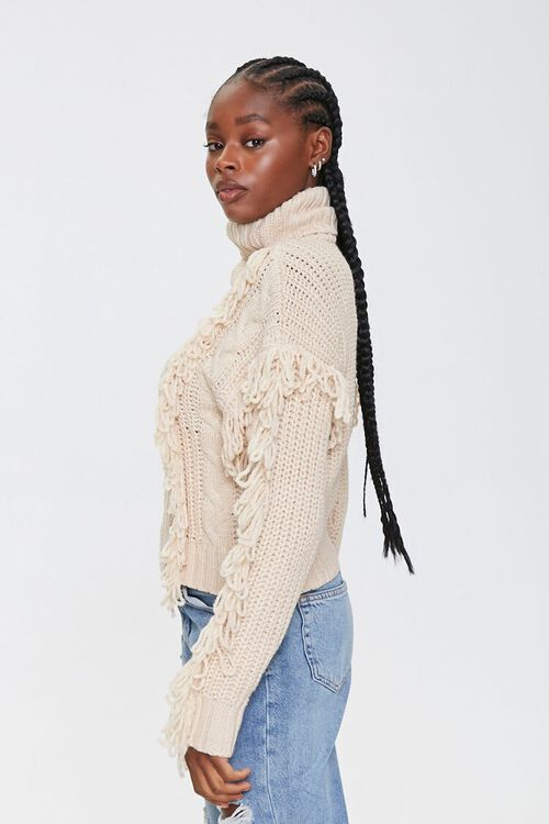 Loop-Knit Trim Turtleneck Sweater, image 2