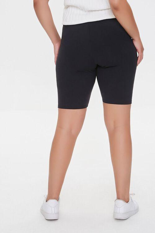 Plus Size Strappy Cutout Biker Shorts, image 4