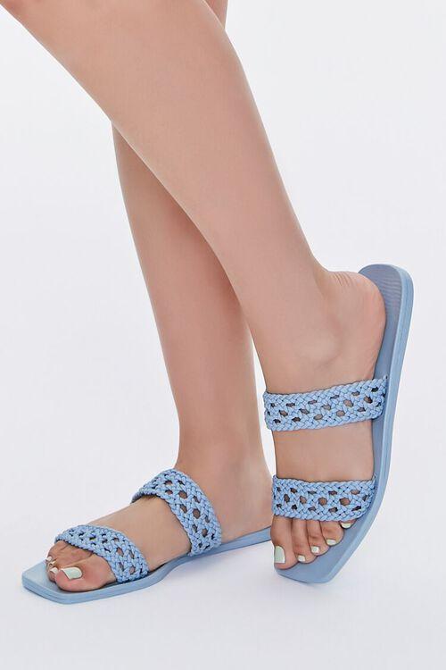 Basketwoven Slip-On Sandals, image 1