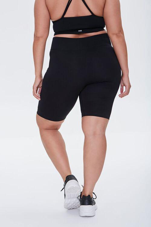 BLACK Plus Size High-Rise Biker Shorts, image 4