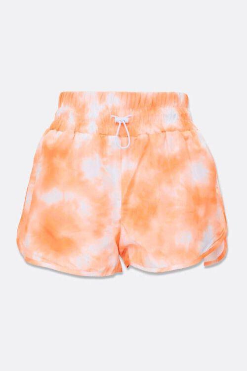 ORANGE/WHITE Tie-Dye Dolphin Shorts, image 4