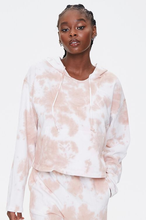 French Terry Tie-Dye Hoodie, image 1