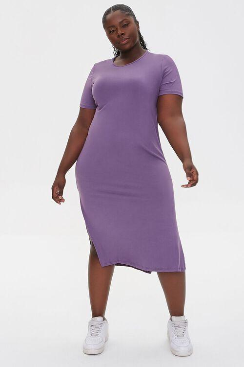 Plus Size Midi T-Shirt Dress, image 4