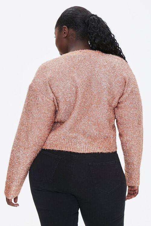 Plus Size Metallic Cardigan Sweater, image 3
